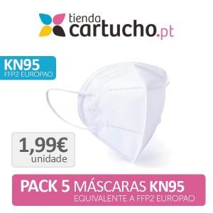 Pack 5 Máscaras Ffp2 - Kn95 PARA LA IMPRESORA Higiene Covid