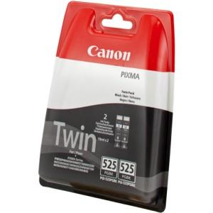 Canon PGI-525BK negro PACK 2 cartuchos de tinta original. PARA LA IMPRESORA Canon Pixma IX6250 Tinteiros