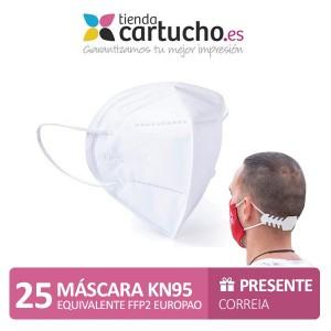 Pack 25 Máscaras Kn95 - equivalente a Ffp2 PARA LA IMPRESORA Higiene Covid