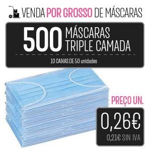 500 MÁSCARAS (10 CAIXAS 50 PCS.) HIGIÉNICAS DESCARTÁVEIS DE 3 CAMADAS PARA LA IMPRESORA Higiene Covid