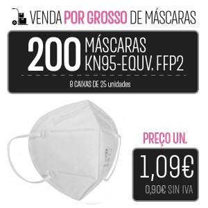 PACK 200 (8 CAIXAS 25 PCS.) MÁSCARAS KN95 - EQUIVALENTE FFP2 PARA LA IMPRESORA Higiene Covid