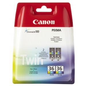 Canon CLI-36 colo PACK 2 cartuchos de tinta original. PARA LA IMPRESORA Canon Pixma IP100 Tinteiros