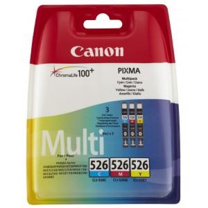 Canon CLI-526 C/M/Y colores PACK 3 cartuchos de tinta original. PARA LA IMPRESORA Canon Pixma IX6250 Tinteiros