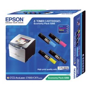 Epson Aculaser C1100 CX11 pack colores, toner original. PARA LA IMPRESORA Epson Aculaser C1100 Toner
