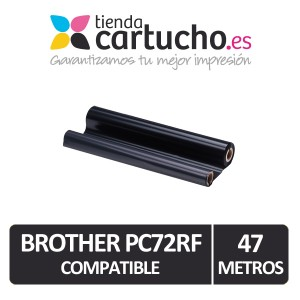 BROTHER PC72RF / PC74RF / PC402RF Compatible, 1 rollo de 47 metros. PARA LA IMPRESORA Brother Fax-T96 Fitas de Transferência