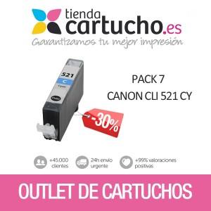 PACK 7 CANON CLI-521 CY PRECINTADOS SIN CAJA PERTENENCIENTE A LA REFERENCIA Canon PGI520 / CLI521 Tinteiros
