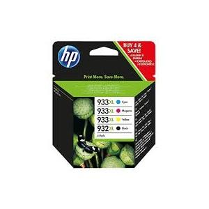 HP 933XL VALUE PACK 3 COLORES TINTA ORIGINAL - 75 HOJAS/A4 PARA LA IMPRESORA HP OfficeJet 7612 e-All-in-One Tinteiros