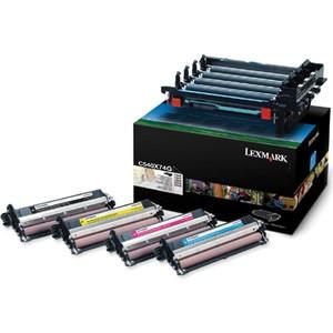 Unidad de Tambor Negro + Color. Imagen Kit: PCU+Revelador negro, cyan, magenta y amarillo PARA LA IMPRESORA Lexmark C540N Toner