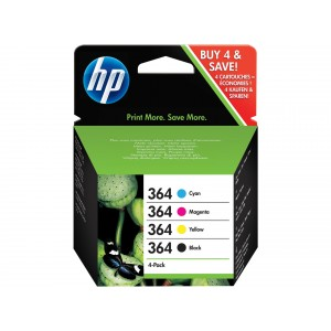 HP 364 Pack colores (4 colores) cartucho de tinta original. PARA LA IMPRESORA HP Photosmart Wireless All-in-One Tinteiros