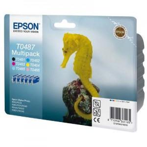 Epson T0487, Multipack cartuchos de tinta originales (C13T04874010)  PARA LA IMPRESORA Epson Stylus Photo RX620 Tinteiros
