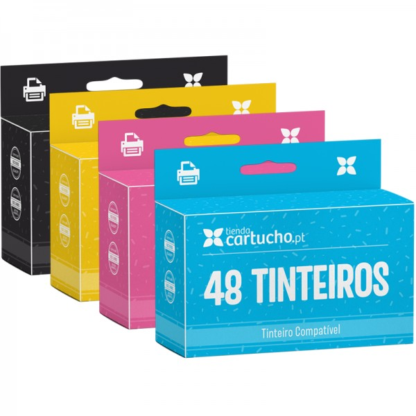 Pack 48 tinteiros compatívies Brother LC-985