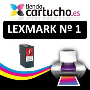 LEXMARK Nº 1 (21ml.) CARTUCHO COMPATIBLE (SUSTITUYE CARTUCHO ORIGINAL REF. 018CX781E) PARA LA IMPRESORA Lexmark X2300 Tinteiros